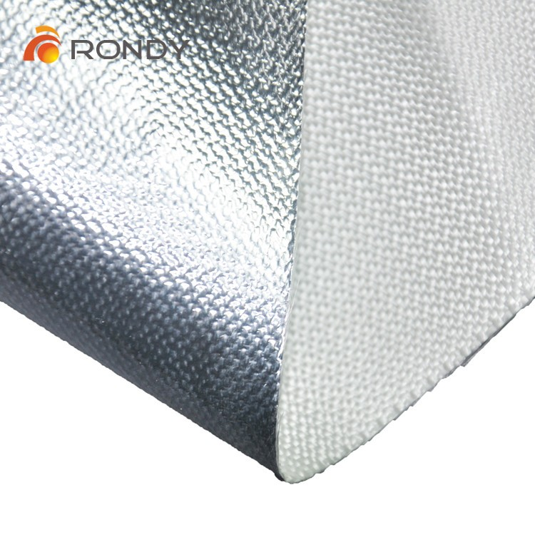 Heat resistant aluminum foil laminated fiberglass fabric cloth