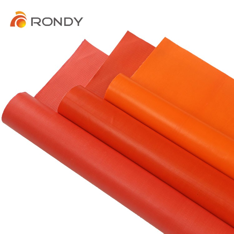 Orange color PVC (polyvinyl chloride) coated Fiber glass fabric cloth