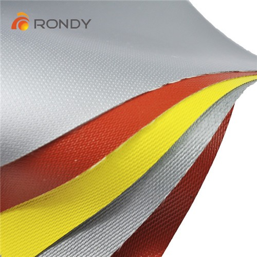 0.4mm High Temperature Resistant Silicone Rubber Coated Welding Protective Cloth