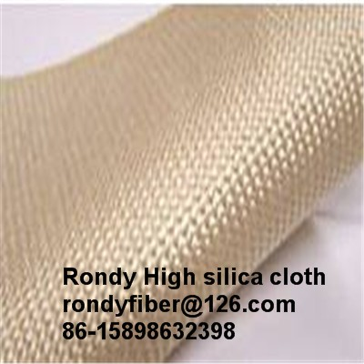 1200G High Silica Cloth Fabric 1.3mm Satin Weave Fiberglass Cloth For Fire Blank