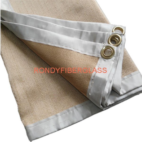 tan heat treatment welding blanket
