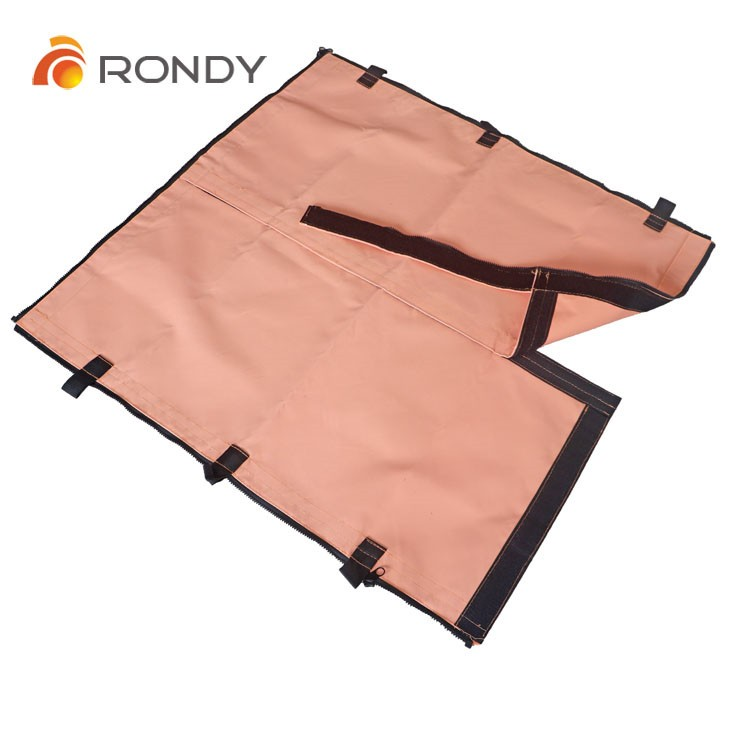 0.45mm, 0.75mm silicone coated glass fiber fabric for safe welding habitat panel